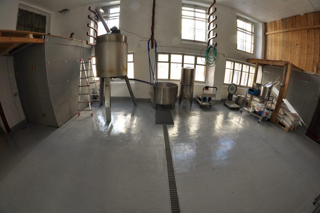 Salle de brassage